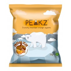Peakz Crunchy Chocolate Orange Squares 22 x 32g